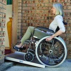 Portable Wheelchair Ramp - for easy wheelchair access, rolls up and fits in your car boot for ease of transport. #wheelchair #mobilityaids