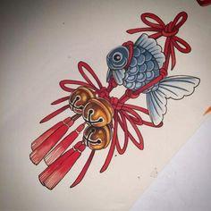 Japanese Drawings, Japanese Tattoo Art, Mini Tattoos, Body Art Tattoos, Goldfish Tattoo, Dibujos Tattoo, Guardian Tattoo, Traditional Japanese Tattoos, Asian Tattoos