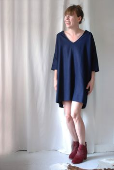 Olive navy blue tunic — need to buy for fall.