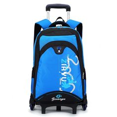 4b39e2467b3c Children School Trolley Backpack Kids Wheeled Backpacks Children Rolling Bag  For Teenagers Travel trolley luggage bags On wheels