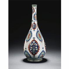 A Large Cantagalli Iznik style bottle, Italy, 19th century   lot   Sotheby's