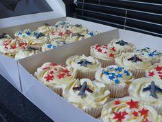 Aeroplane cupcakes
