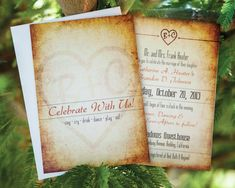 Rustic Wedding Invitation.