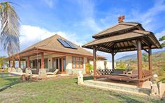 Bali Architectural Elements - tropical - patio - hawaii - Island Essence Interiors