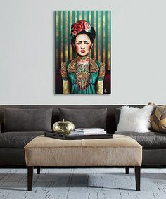 Look at this Giulio Rossi Frida Wrapped Canvas on today! Ballard Designs, Color Of Life, Creative Home, Art Studios, Home Interior Design, Wrapped Canvas, Photo Art, House Design, Inspiration