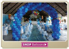 how to decorate with balloons for a baby shower - Google Search