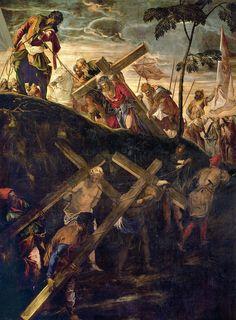 Tintoretto. Salita al Calvario. Scuola di San Rocco