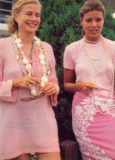 Princess Grace & Caroline...The Late Princess Grace of Monaco and Her Oldest Daughter, Caroline...Two Very Different Ladies, Two Unique Beauties, Two Super Moms & Women...