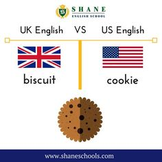 Biscuit or cookie. English Fun, English Class, English Lessons, British Vs American, Biscuit, Cookie, Language, Education, School
