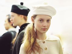 London Fashion Week AW 2012....Backstage at Margaret Howell