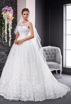Vida is a princes style wedding dress with sweetheart neckline and long sleeves with lace detail flowing into the soft tulle skirt. South Africa, One Shoulder Wedding Dress, Wedding Gowns, Romantic, Lace, House, Collection, Fashion, Life
