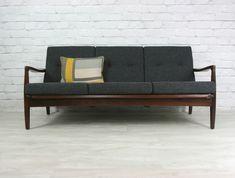 Retro Vintage Teak Afromosia Mid Century Danish Style Sofa Eames Era 50s60s