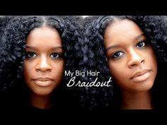 tuto de tresses démontées (Big Hair Braidout) avec 'fruit fusion coconut water mousse shea moisture' - Mahoganycurls