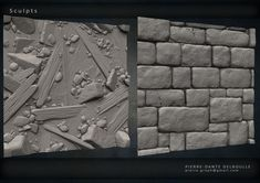 Tilable textures for Game's Environment All Sculpted from scratch on Zbrush 3d Texture, Stone Texture, Zbrush Environment, Game Textures, Hand Painted Textures, Isometric Art, 3d Background, Environmental Art, Texture Painting
