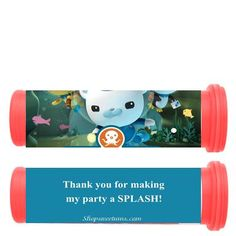 Octonauts mini tubes. Great idea to use mini m tubes especially since Zach loves m Birthday Crafts, Birthday Party Decorations, Birthday Ideas, Birthday Parties, Fourth Birthday, Girl Birthday, Octonauts Party, Personalized Party Favors, Party Banners