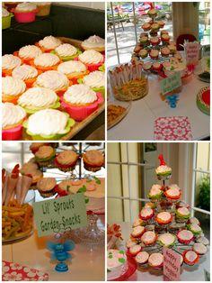 Indoor Garden Party - Girls First Birthay I Party, Party Ideas, Indoor Garden Party, Girl Birthday, Happy Birthday, Cupcake Wrappers, First Birthdays, Parties, Snacks