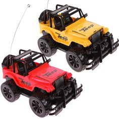 1:24 Drift Speed Radio Remote Control RC Jeep Off-Road Vehicle and Headlight Random Color
