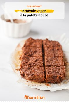 Sweet potato brownie , We love this brownie recipe made from sweet potatoes, vegan, gluten free and lactose free. Good Food, Yummy Food, Tasty, Bolo Diet, Desserts Sains, Vegan Recipes, Cooking Recipes, Vegan Food, Sweet Potato Brownies