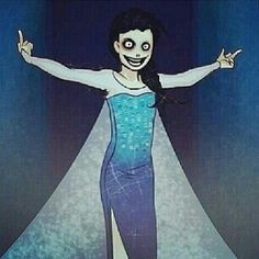 """Jeff went to Elsa, said: """" Give me your dress!"""" And took it, putting it on and singing his version of 'Let It Go' Naming it 'Go To Sleep'  Look go to sleep (Let It Go parody) up on youtube.com!"""