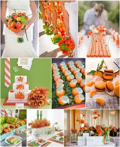 tangerine and wasabi wedding ideas on French Wedding Style