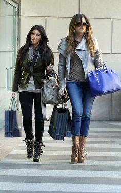 Khloe Kardashian in a VEDA Avery jacket
