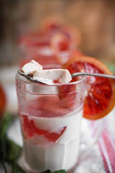 Vanilla Bean Panna Cotta with Blood Orange Gelée | Panna Cotta, Blood ...