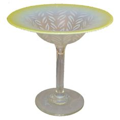 Tiffany Pastel Favrile Glass Compote The bottom by ChristiesCurios