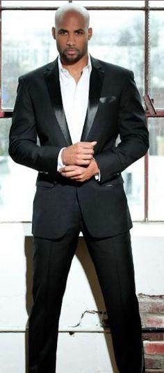 Actor/Model Boris Kodjoe for Denim Magazine Fine Black Men, Gorgeous Black Men, Hot Black Guys, Handsome Black Men, Fine Men, Beautiful Men, Black Man, Black Men In Suits, Sharp Dressed Man