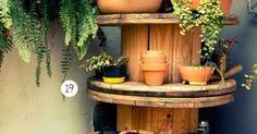 Para colocar las plantas en la terraza una bobina de cable #plantas #reciclar | Paisagismo | Pinterest | Cable, Garten and Cable Spools