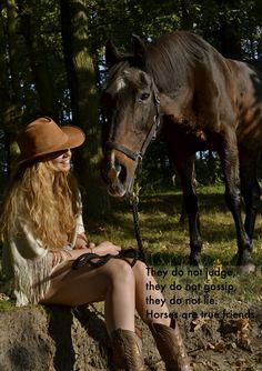 horse, girl, sayings