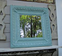 Vintage Ceiling tin Mirror.  Antique ceiling by DriveInService