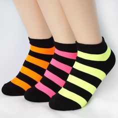 COLORFUL FLUORESCENCE SOCKS 3PAIRS=1PACK Made in KOREA women woman girl big kids #MARVEL #allStyle