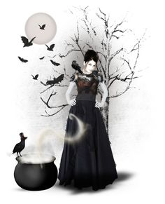"""""""Night of the Witch"""" by youaresofashion ❤ liked on Polyvore featuring art and witch"""