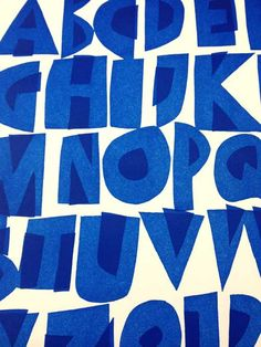 Cyrus Highsmith ~ blue uppercase.   http://occupant.typenetwork.com/  http://cyrushighsmith.tumblr.com/post/99643667363/blue-uppercase