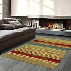 Master Craft Galleria 068 0081 9090 Striped Rug by Mastercraft Living Area, Living Spaces, Striped Rug, Pattern Making, Red Colour, Rugs, Luxury, Stains, Patio