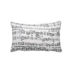 Sheet Music Throw Pillow - $59.95 - Sheet Music Throw Pillow - Sheet music in close up.