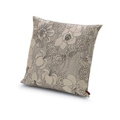 Missoni Home Reasi Pillow 16X16 (€230) ❤ liked on Polyvore featuring home, home decor, throw pillows, modern throw pillows, floral home decor, floral throw pillows, missoni home and modern home decor