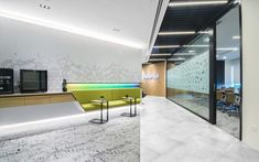 The Singapore office was designed with an intent to integrate private offices & an open collaborative workspace giving the users the freedom to innovate, in line with Veeam's corporate identity. Corporate Identity, Singapore, Innovation, Office Designs, Offices, Interior, Table, Freedom, Furniture