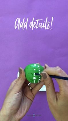 This Rock Painting Idea is Genius Dorm Decorating Idea That Won't Cost You a Ton