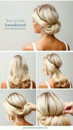 Tutorial peinado fácil, recogido con diadema