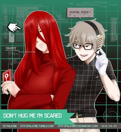Don't Hug Me I'm Scared Skin Care skin care for men Creepypasta, Red Guy, Dont Hug Me, Slender Man, Kaichou Wa Maid Sama, Wattpad, Im Scared, Creative Colour, Manga