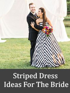 Every bride wants to look the prettiest and the most gorgeous bride ever. As a soon to be bride she spends a lot of time, energy and money to ensure that the Bridesmaid Dresses, Wedding Dresses, Dress Ideas, Bridal Style, Striped Dress, Celebration, That Look, Pretty, Wedding Ideas