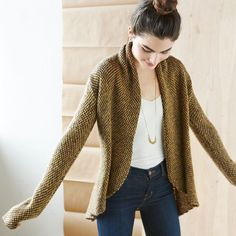 Sweater season is here! If you need us during the next six months we'll be the ones in a cozy open cardigan, long necklace and a top-knot.