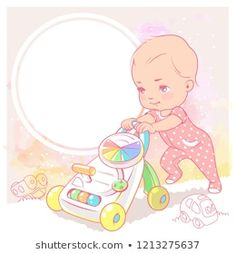 Mother And Daughter Drawing, Little Girl Illustrations, Scrapbook Bebe, Easy Coloring Pages, Kids Moves, Baby Drawing, Family Illustration, Baby Album, Small Baby