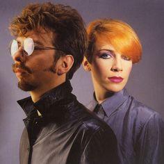 EURYTHMICS: Dave Stewart and Annie Lennox.