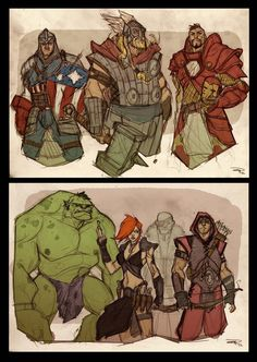 AVENGERS Fantasy Re-design by ~DenisM79 on deviantART | Such detail! Awesome, I'm loving this.
