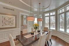 Dining room from a Stonewood LLC custom home build