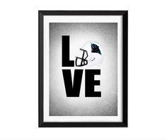 Love Carolina Panthers photo print Carolina by IprayStudio on Etsy