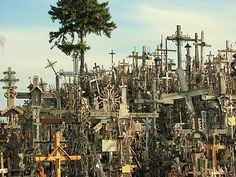 the hill of crosses, latvia