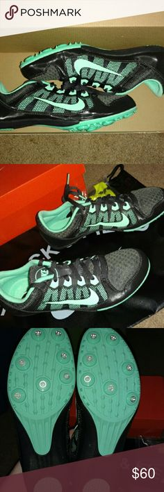 Nike Zoom Rival MD 7 Brand new track spikes. Comes in new box with Nike spike tool, 1/4 inch spikes, & black Nike track & field drawstring bag. Actually 8.5, fits like 7.5. Nike Shoes Athletic Shoes